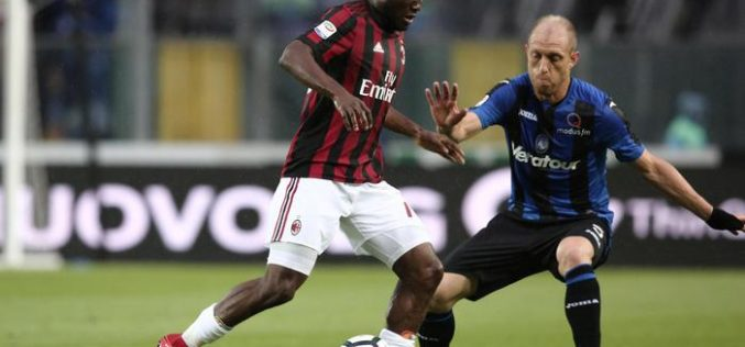 ATALANTA-MILAN 1-1, ROSSONERI IN EUROPA LEAGUE