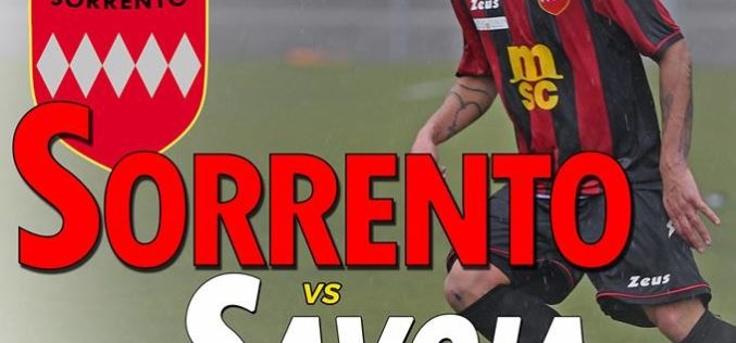 SORRENTO-SAVOIA, TUTTO PRONTO PER IL BIG MATCH