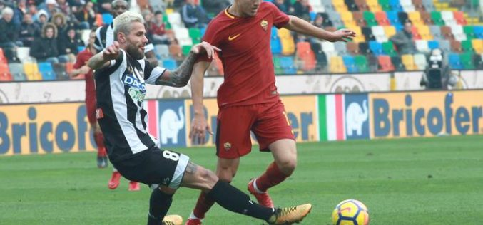 ANTICIPO SERIE A: ROMA BATTE UDINESE 2-0