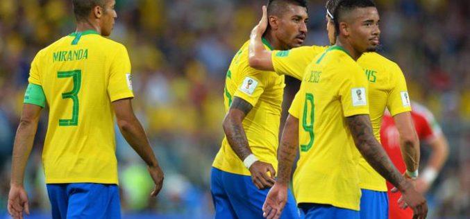 BRASILE BATTE SERBIA 2-0, LA SVIZZERA RISCHIA E PAREGGIA 2-2 COL COSTA RICA