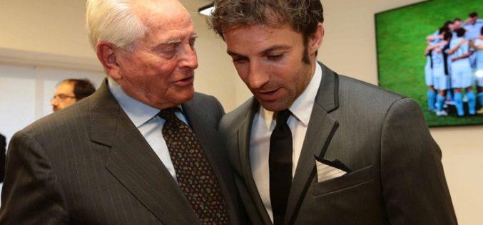 """Del Piero scrive a Boniperti: """"Lei è leggenda, buon compleanno Presidente"""""""