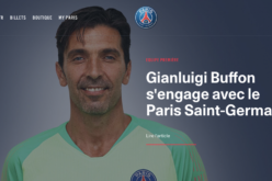 UFFICIALE BUFFON AL PARIS SAINT GERMAIN