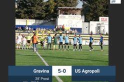 L'AGROPOLI CROLLA A GRAVINA 5-0